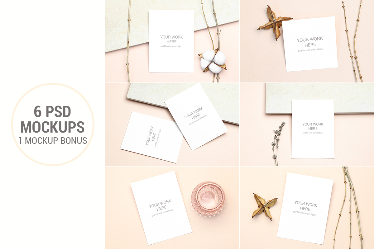 Invitation Card Mockups With Branches example image 1