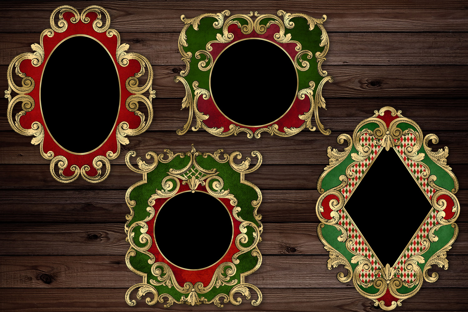 Ornate Christmas Frames Clipart example image 3