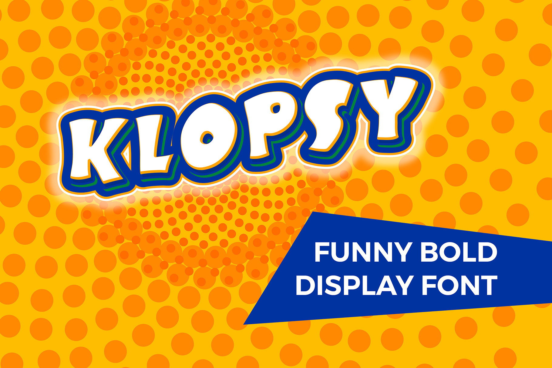KLOPSY - funny bold display font example image 1