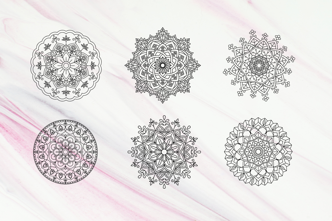 20 Mandala Vectors SVG DXF PNG - For Crafters example image 9