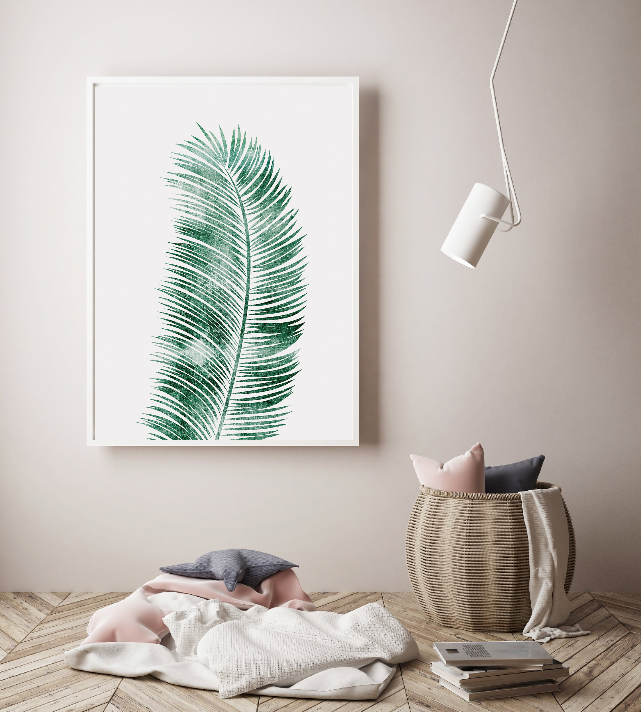 Tropical Leaf Print, Green Leaf Print, Palm Leaf Decor example image 4