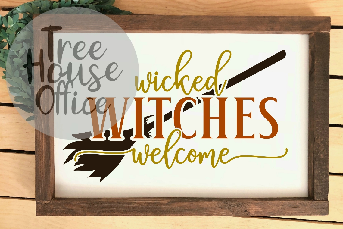 Wicked Witches Welcome Front Porch Sign SVG PNG JPG DXF example image 3