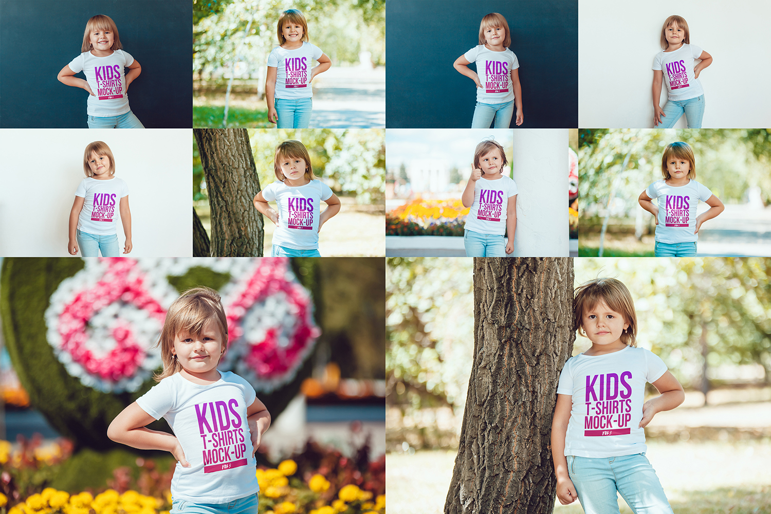 Kids T-Shirt Mock-Up Vol 5 example image 13