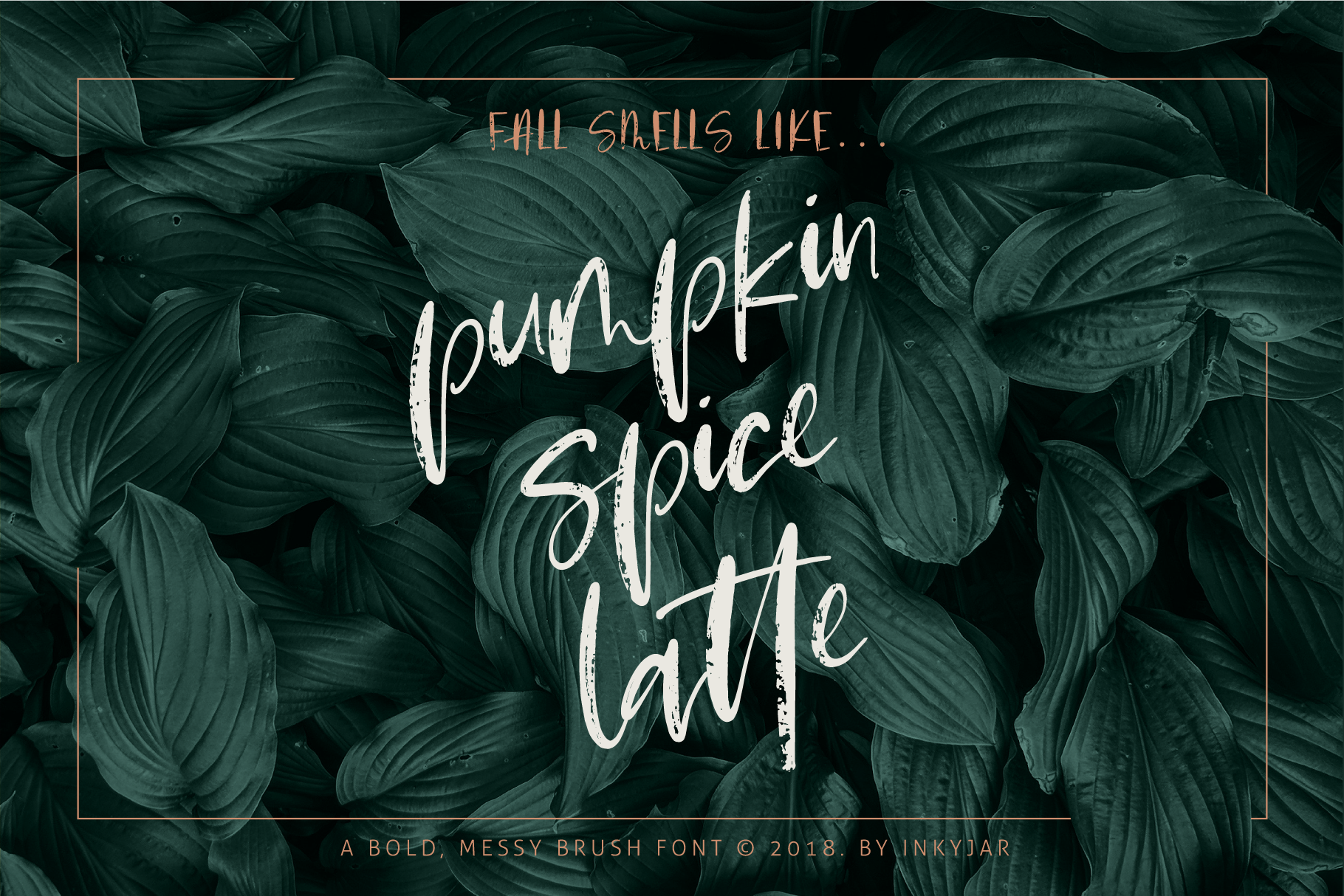 Pumpkin Spice Latte | Brush Script example image 8