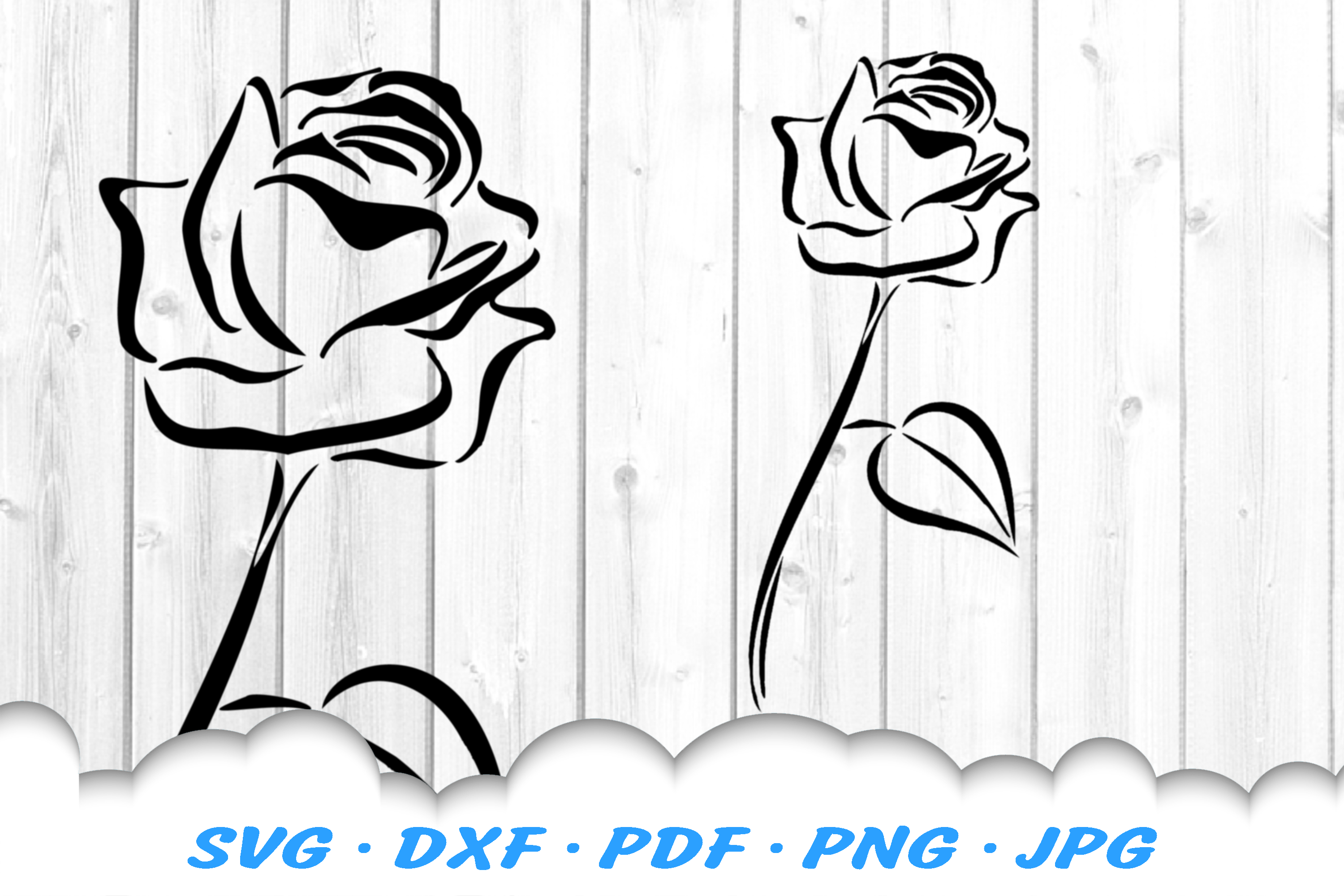 Tribal Rose Flower SVG DXF Cut Files example image 2