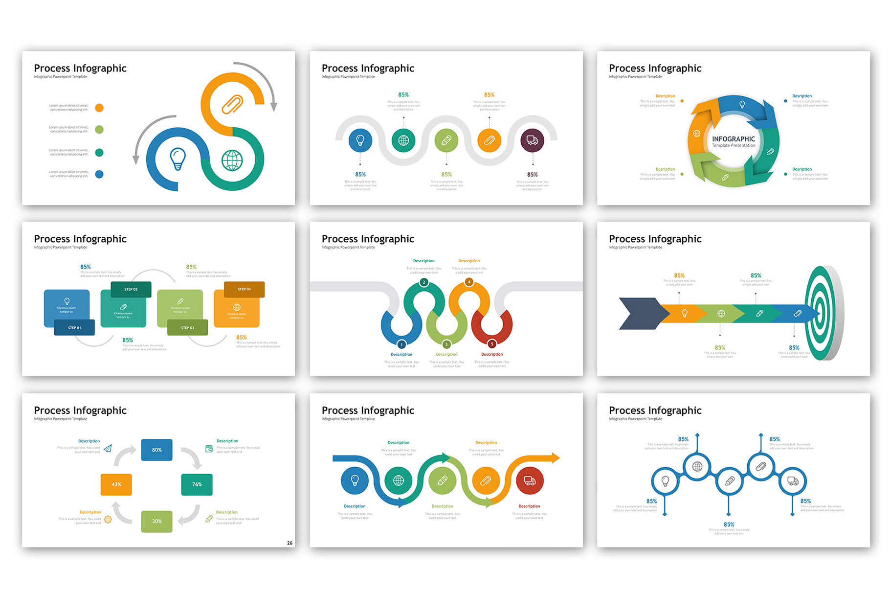Process Presentation - Infographic Template example image 4