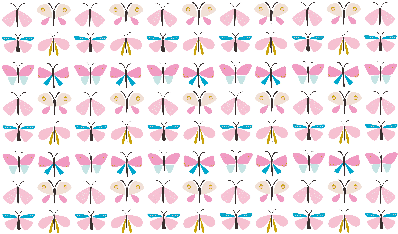 Beautiful butterflies pattern example image 2