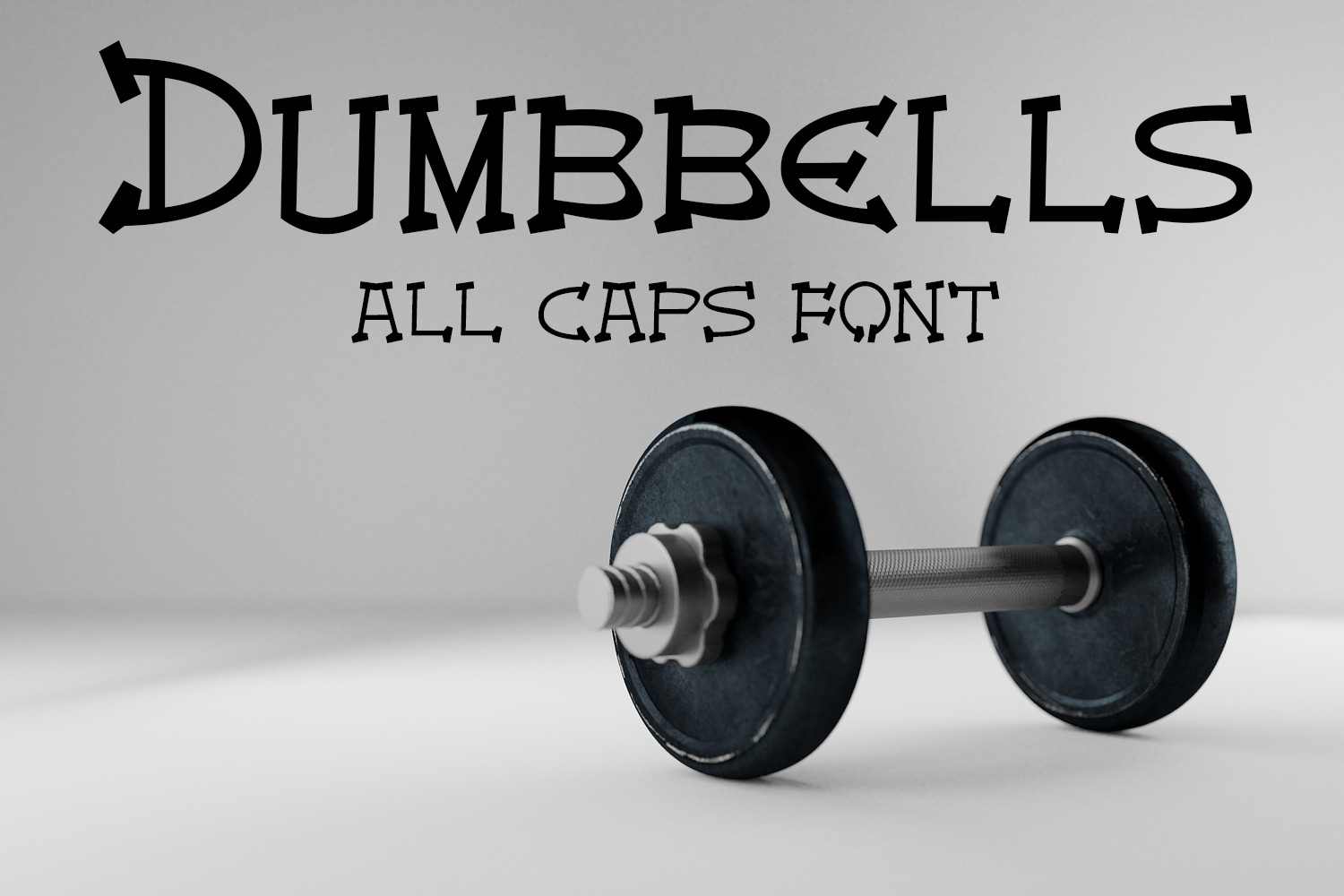 EP Dumbbells - All Caps Font example image 1