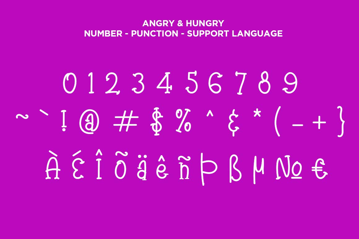 Angry & Hungry Twin Cute Fonts example image 3