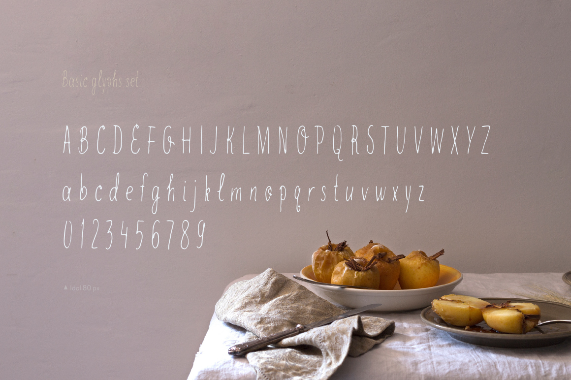 Idol—handwritten font example image 4