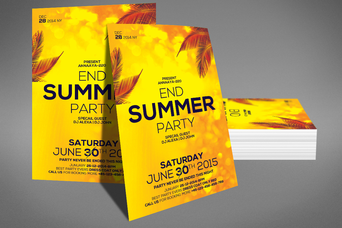 Summer End Party Flyer example image 3