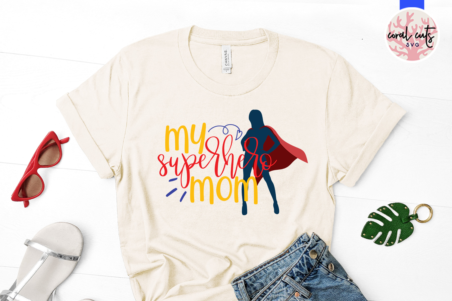 My superhero mom - Mother SVG EPS DXF PNG Cut File example image 2