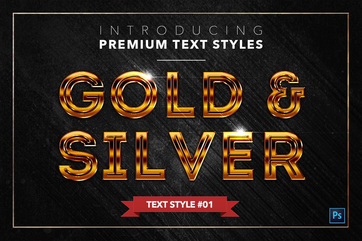 Gold & Silver #2 - 20 Text Styles example image 23