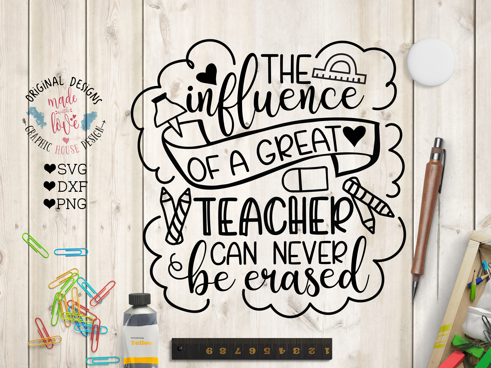 The influence of a Great Teacher can never be Erased SVG example image 1