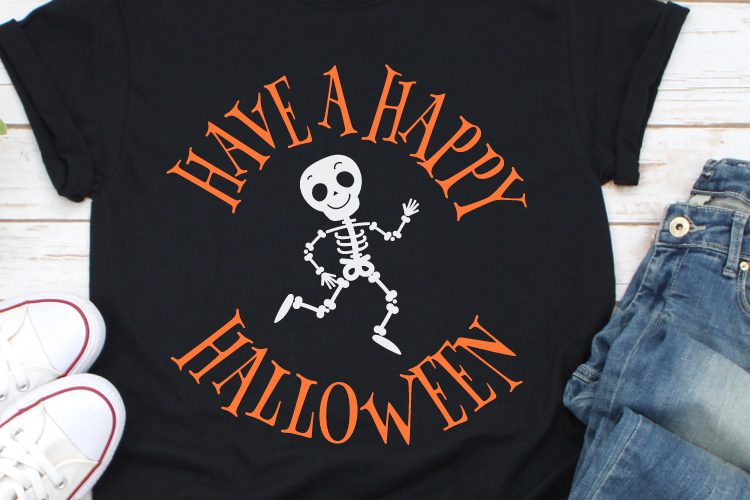 Have a Happy Halloween Svg, Skeleton Svg, Halloween Svg example image 1
