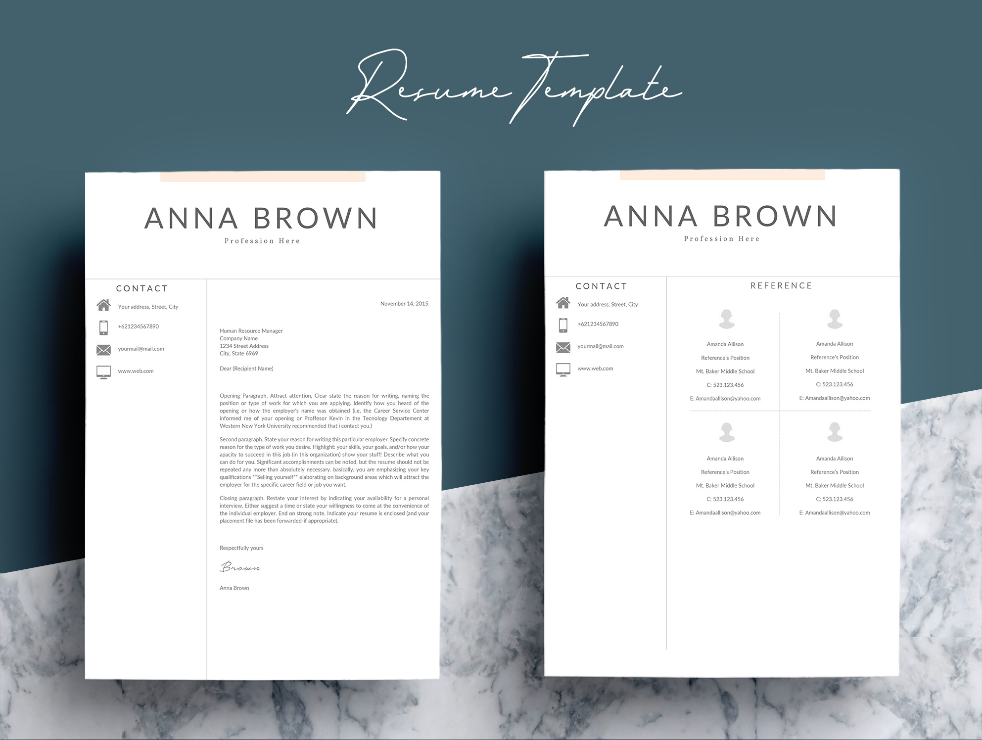 Resume Template CV Word example image 7