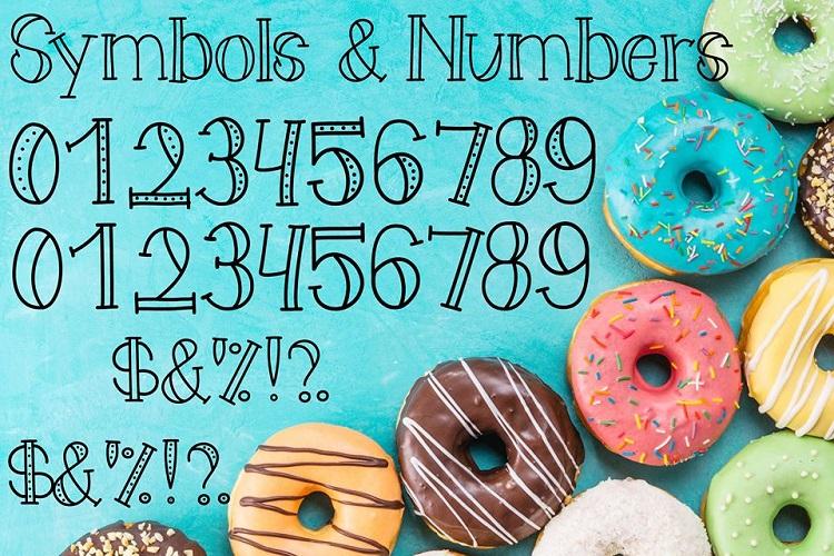 Doughnot Font example image 4