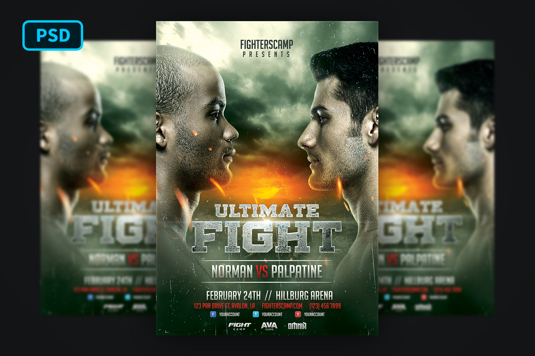 Boxing MMA Poster Template example image 1
