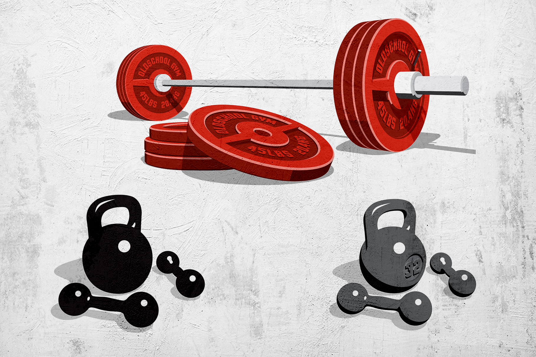 Weight Lifting Retro Pack example image 5