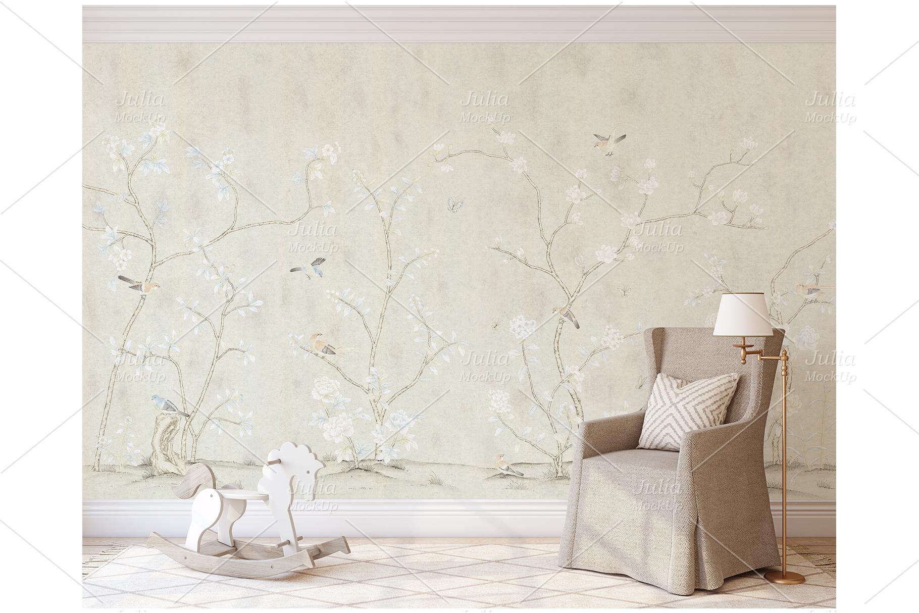 Romantic nursery. Wall&Frames Mockup. example image 5