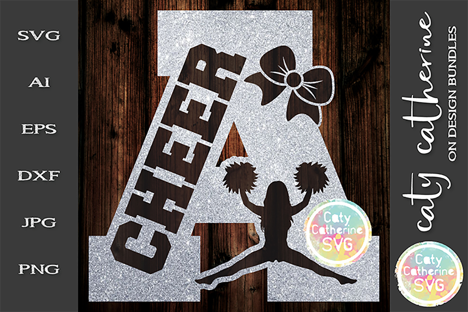 Letter A Cheerleading Monogram Letters SVG Cut File example image 1