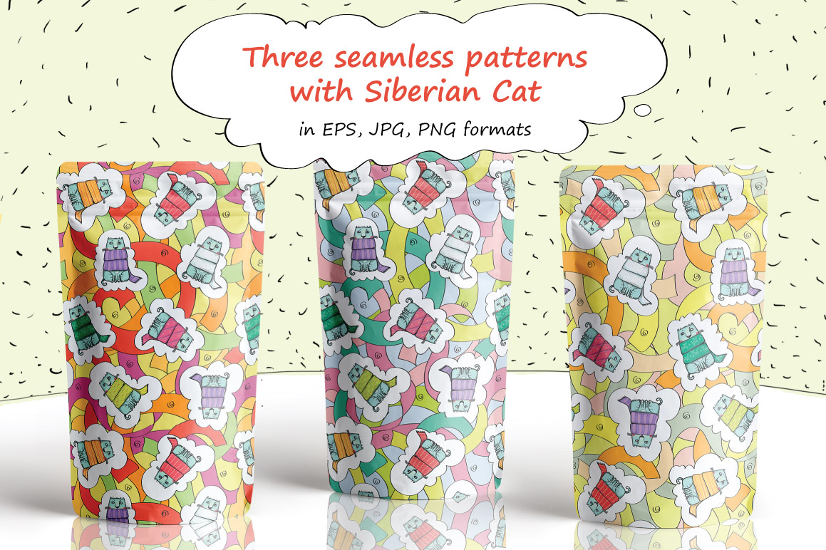 The Siberian Cat patterns example image 2