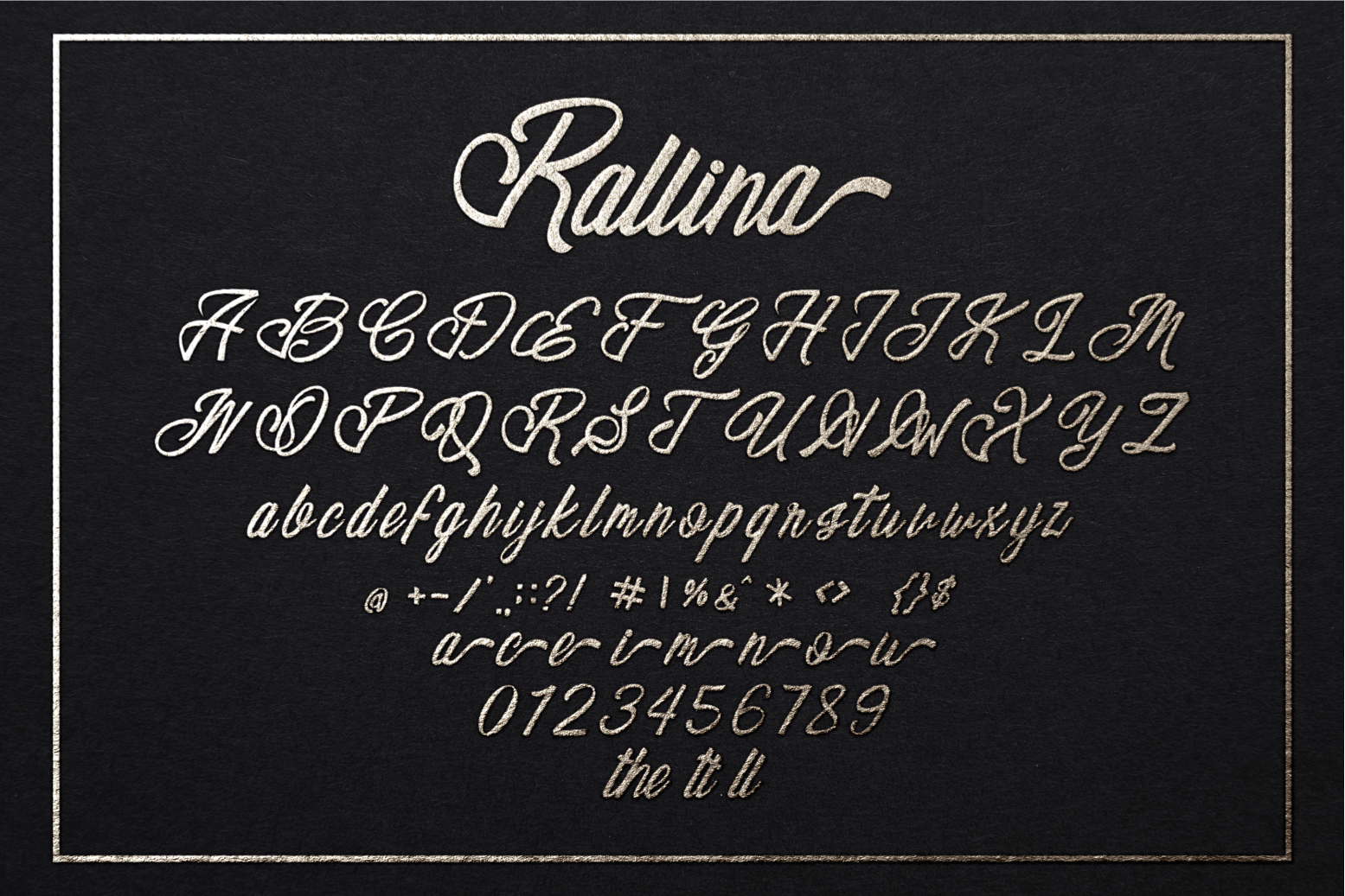 Ralline Modern Script Font example image 7