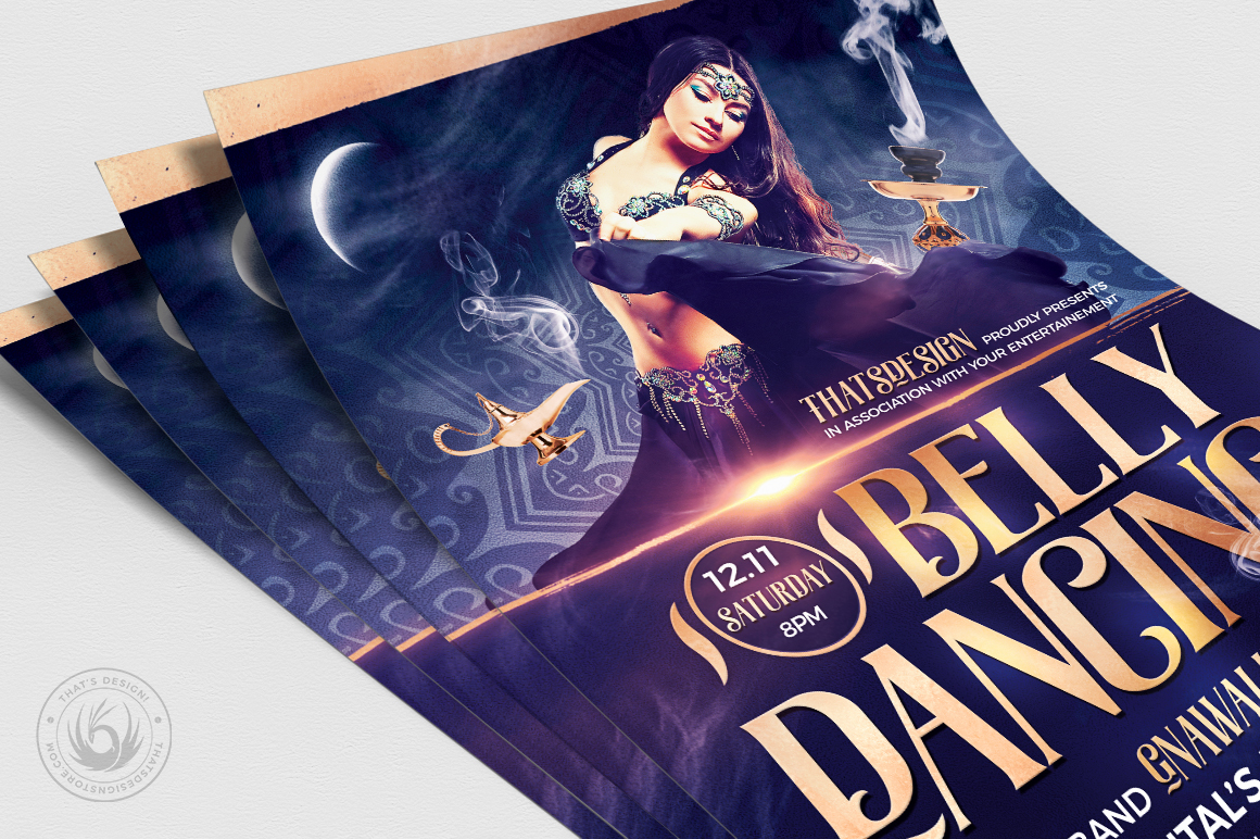 Belly Dancing Flyer Template V2 example image 5