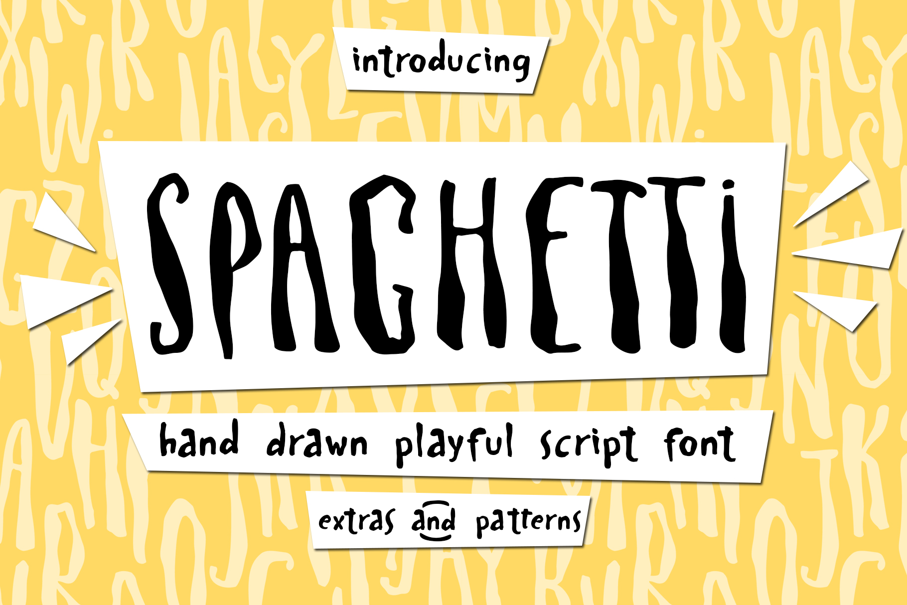 Spaghetti playful script font & Extras example image 1