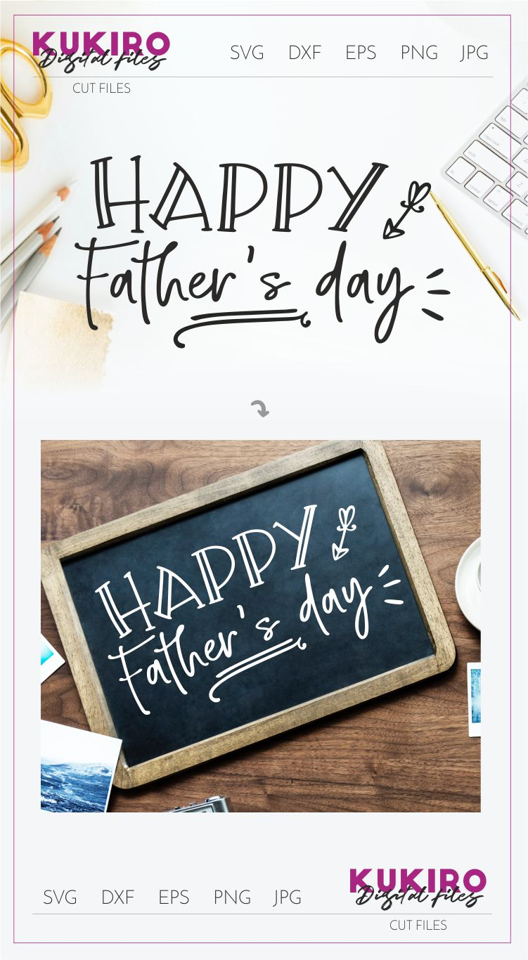 Happy Father's day Cut file SVG - Dads design example image 2