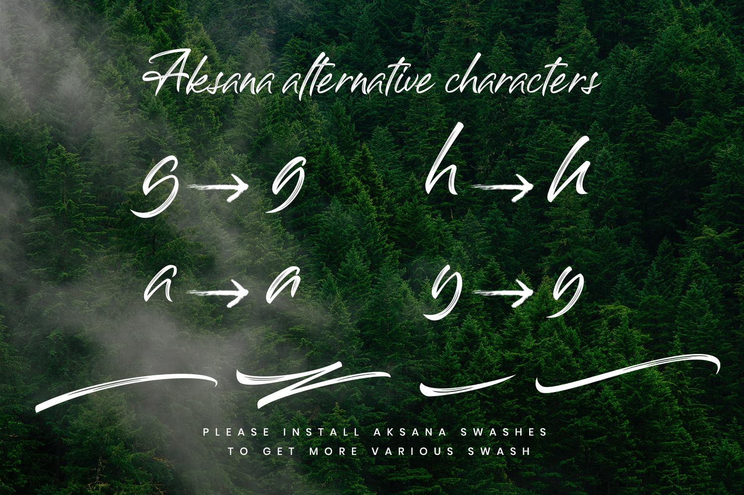 Aksana Brush Script example image 5