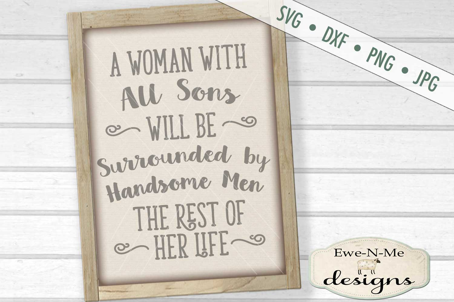 Woman with All Sons SVG DXF Cut File example image 1
