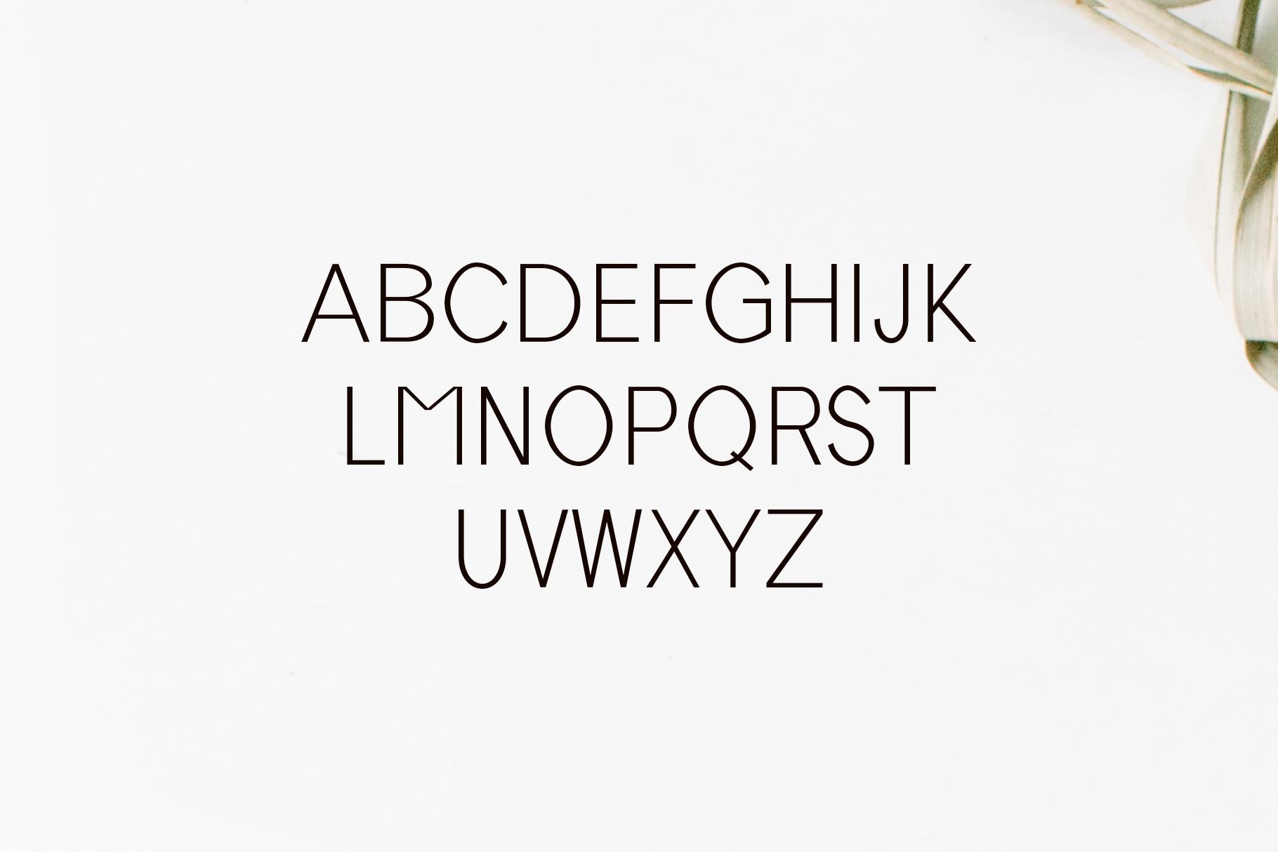 Tabner Sans Serif Font Family example image 2
