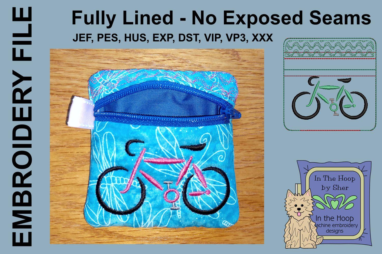 Road Bike Mini Zipper Bag / Fully Lined, 4X4 HOO example image 2