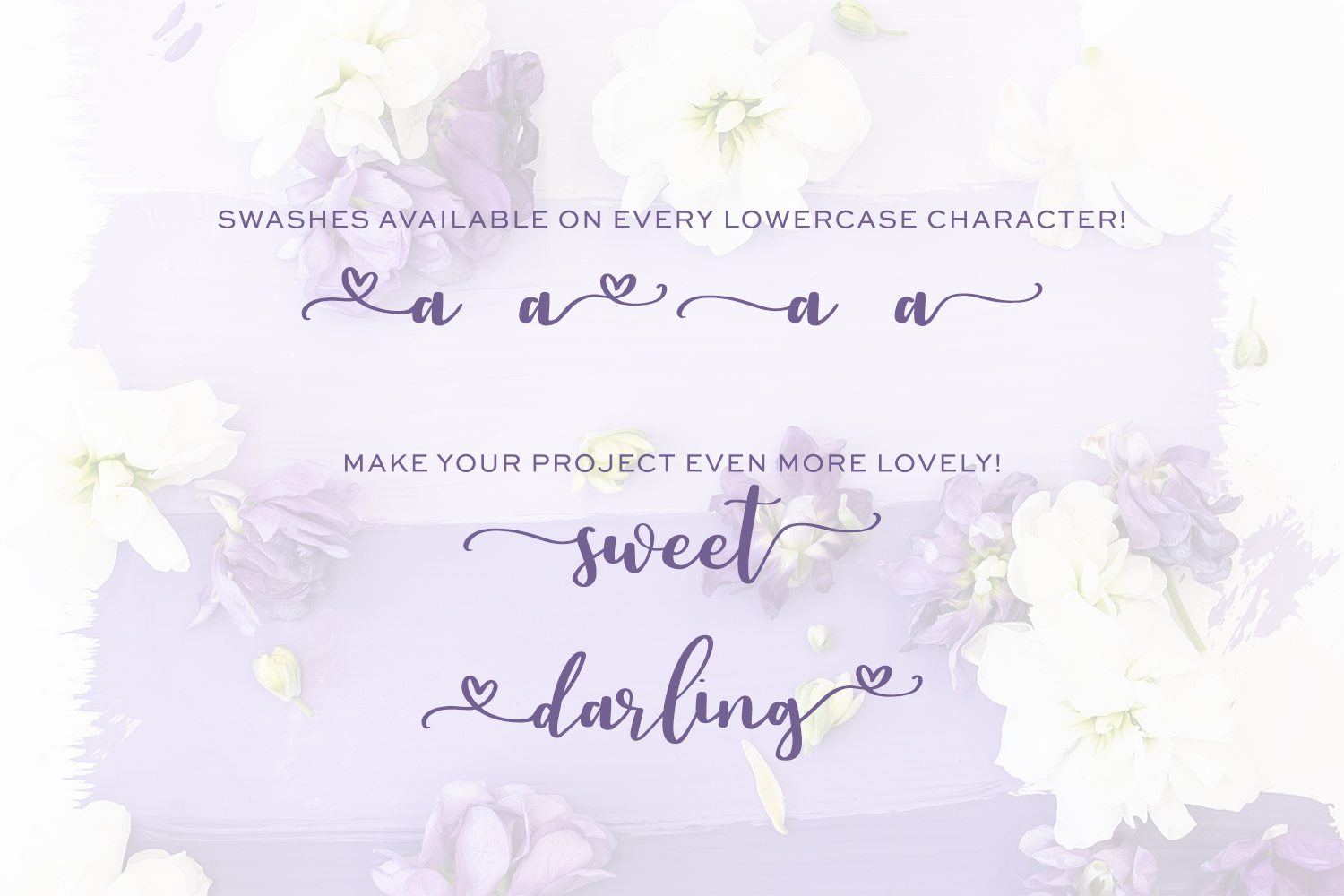 Auttie Calligraphy Font with Heart Swashes example image 5