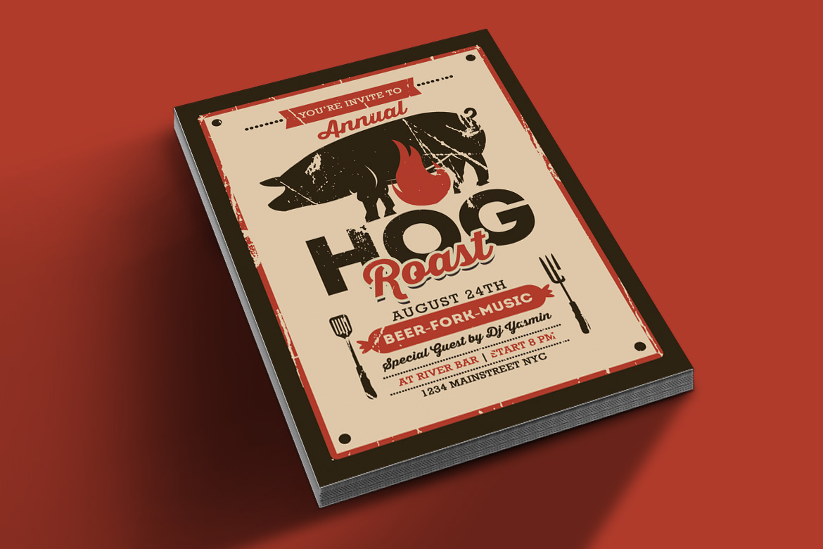 Pig Roast Event Flyer example image 2