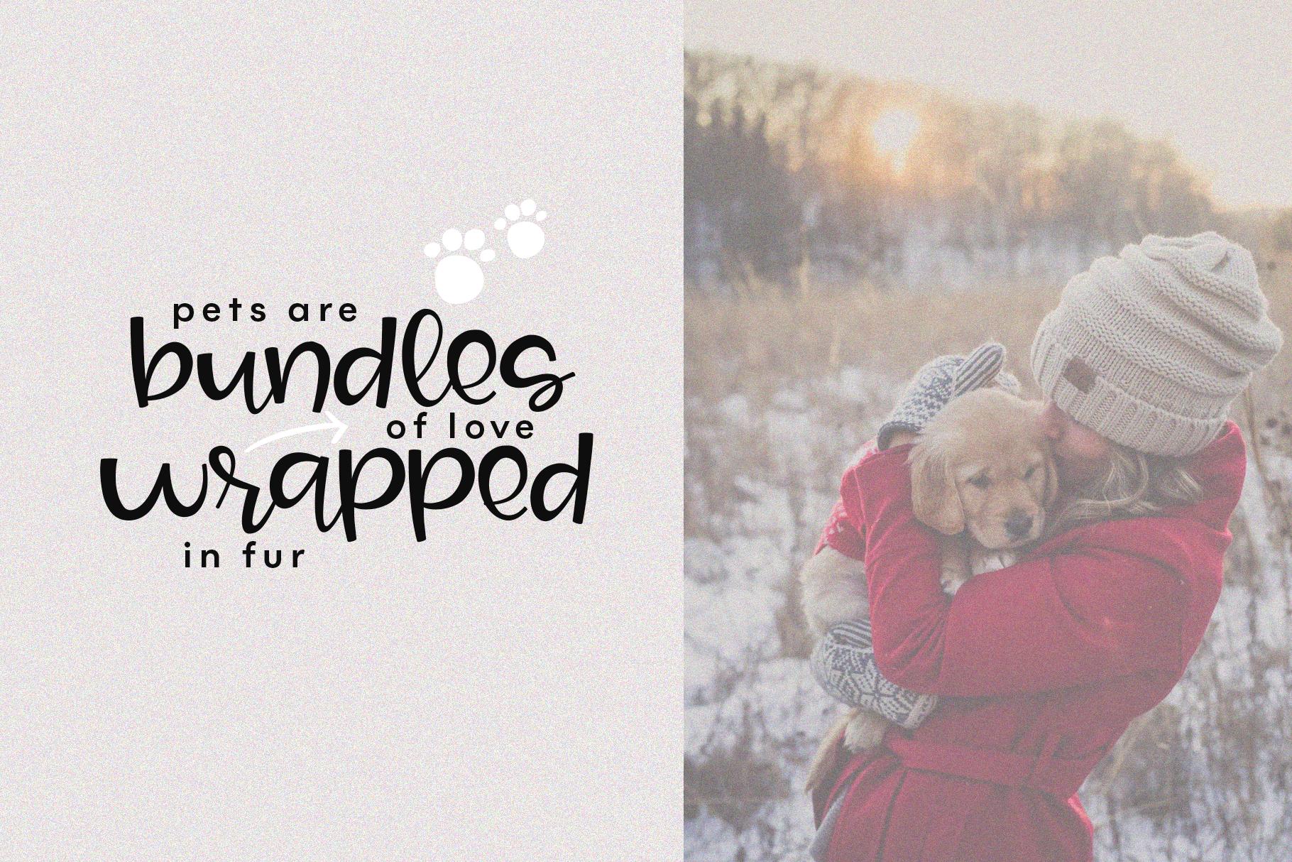 Joy & Hugs Handwritten Script Font - with doodle extras! example image 11