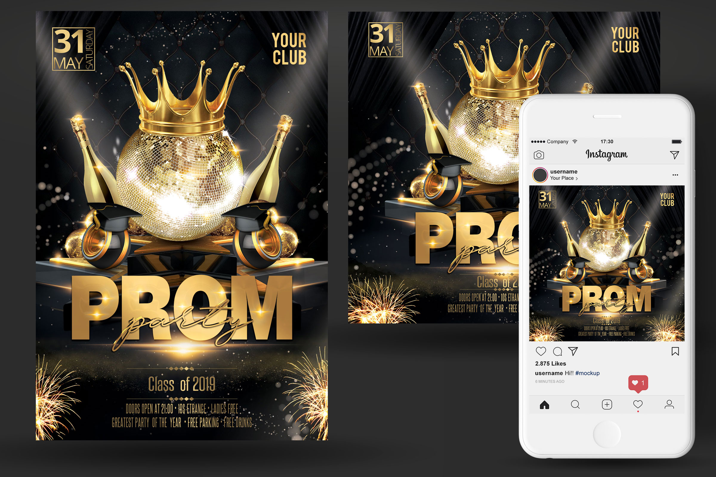 Prom Party Flyer example image 2