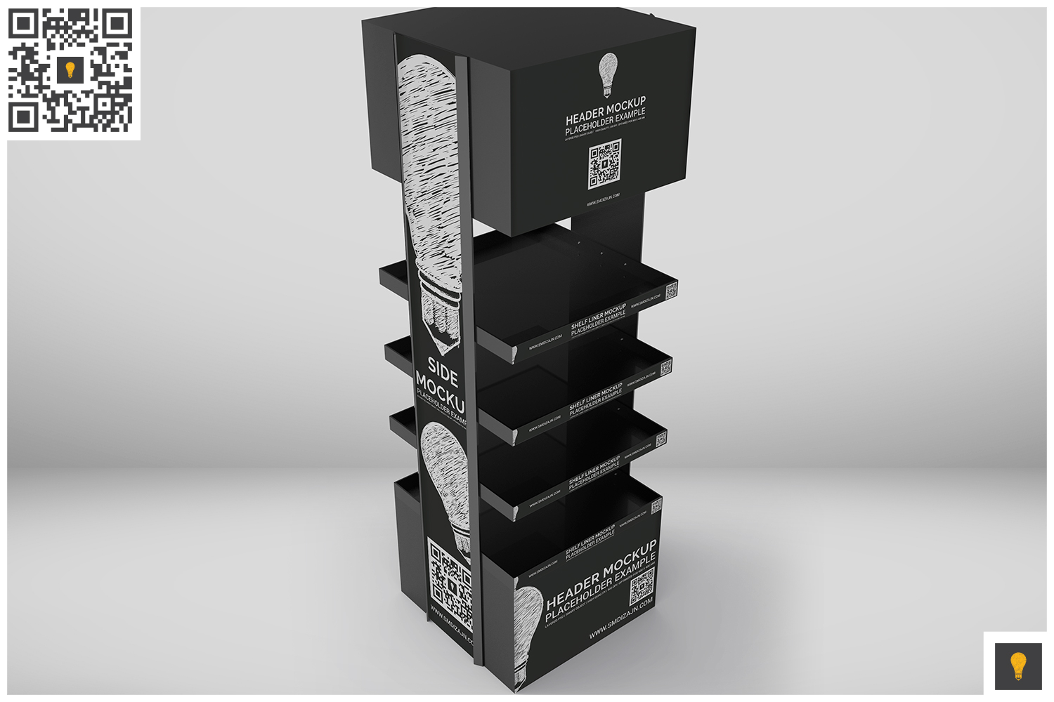 Promotional Store Shelf Stand Mockup example image 7