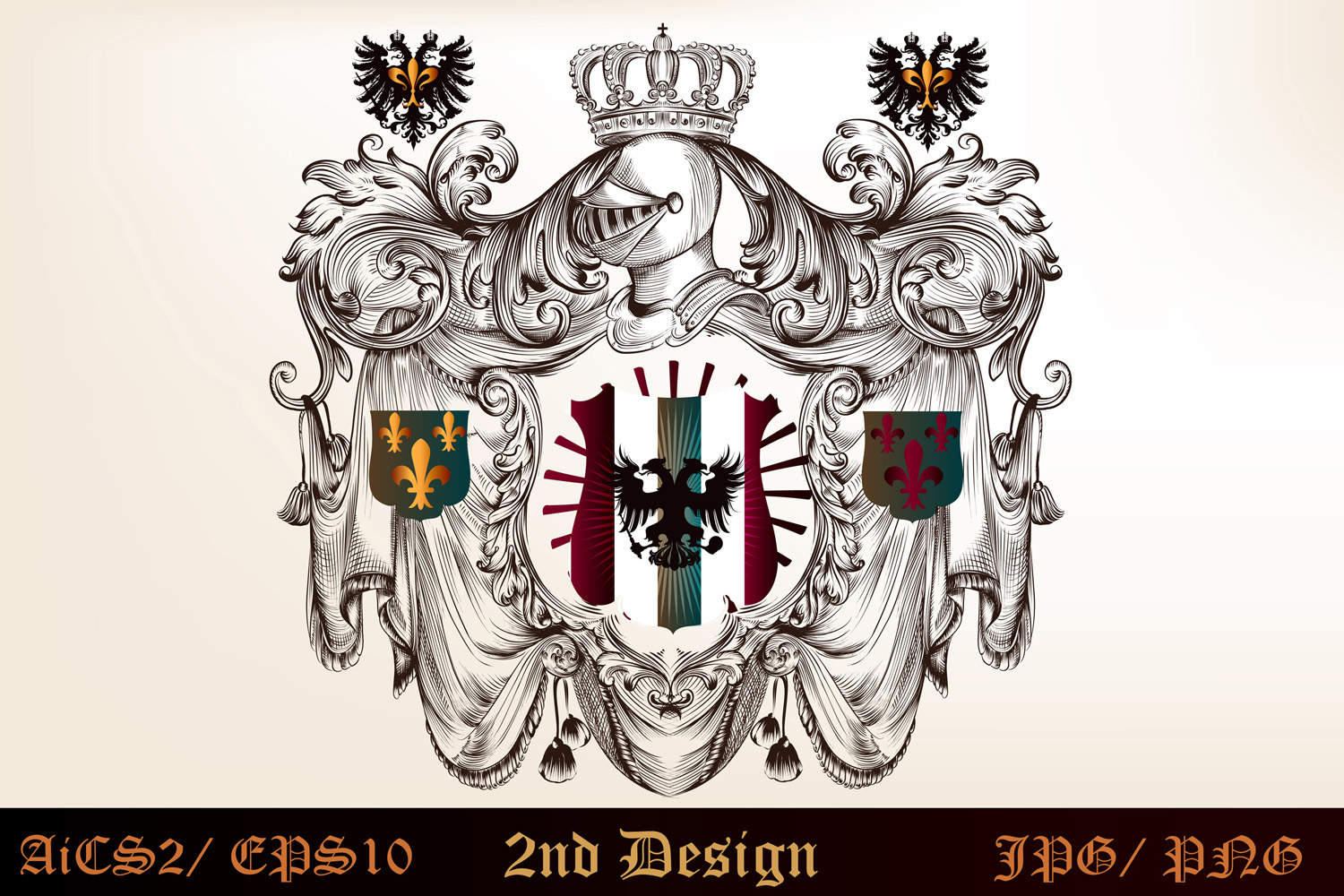 Heraldic bundle of detailed of shields  example image 5