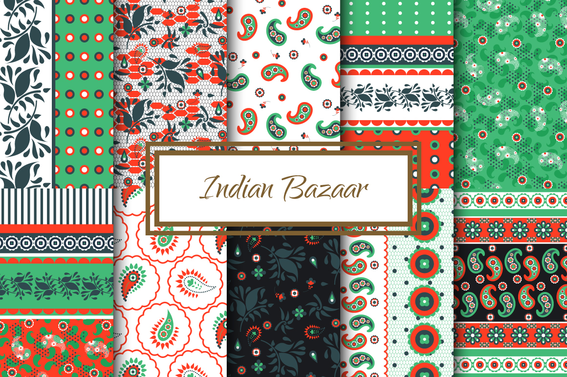 Indian Bazaar Seamless Patterns example image 2