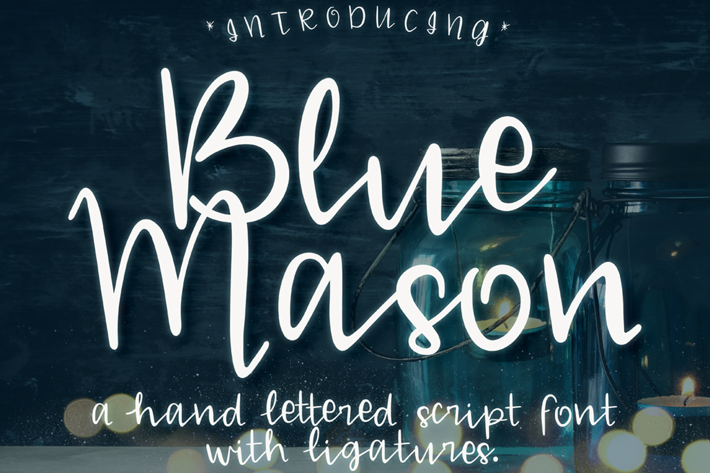 Blue Mason Font example image 1