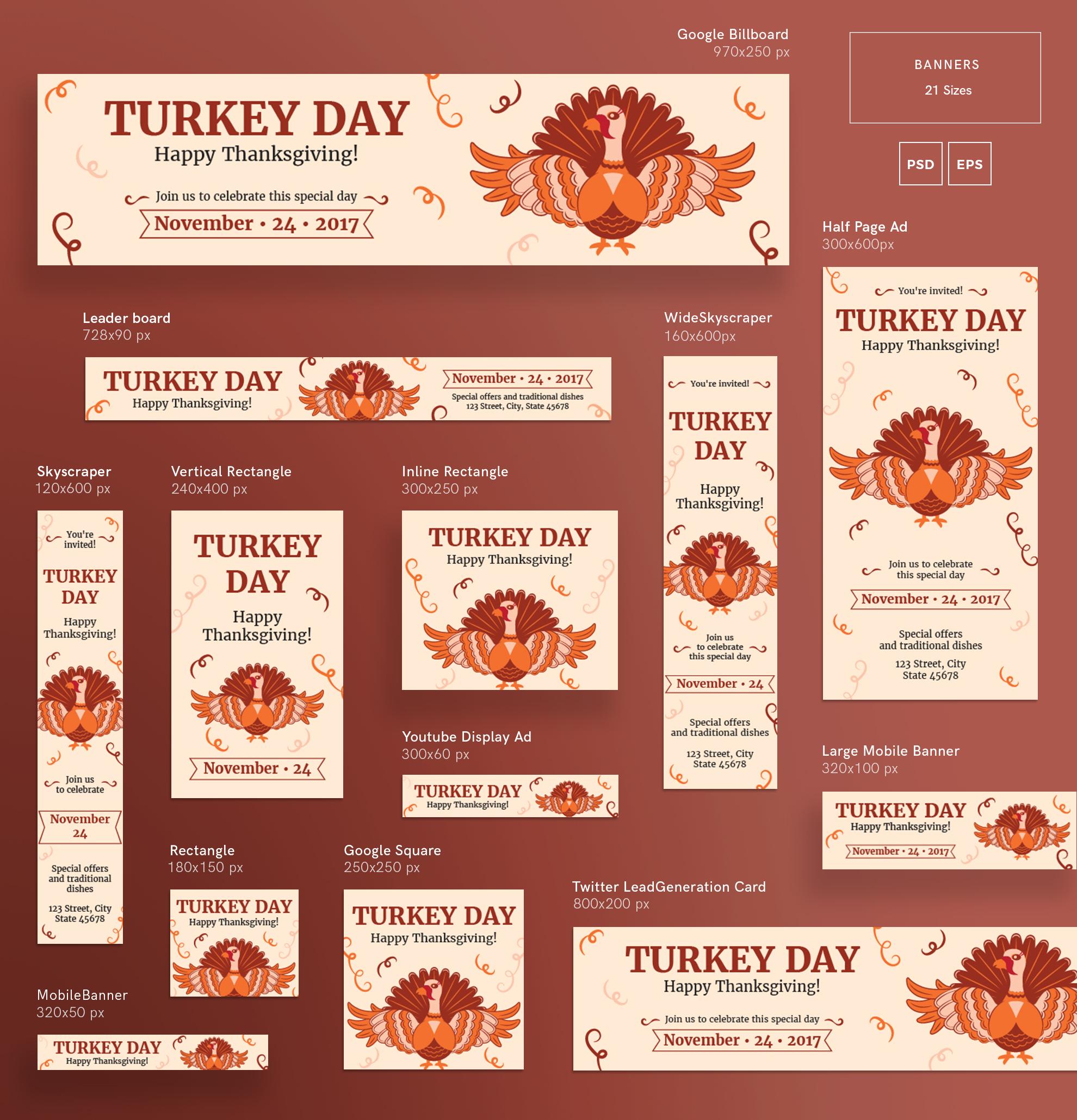 Thanksgiving Celebration Design Templates Bundle example image 5