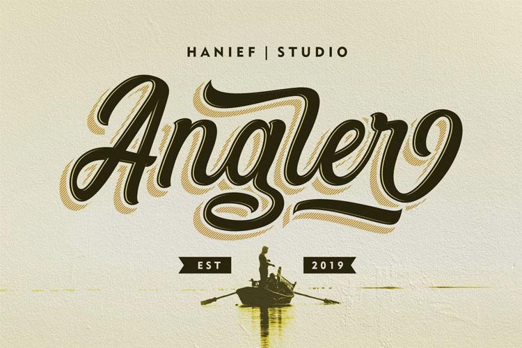 Angler//Modern Script Font example image 1