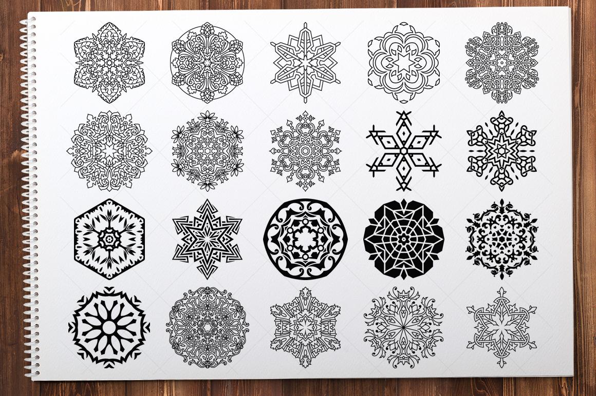 500 Vector Mandala Ornaments example image 19