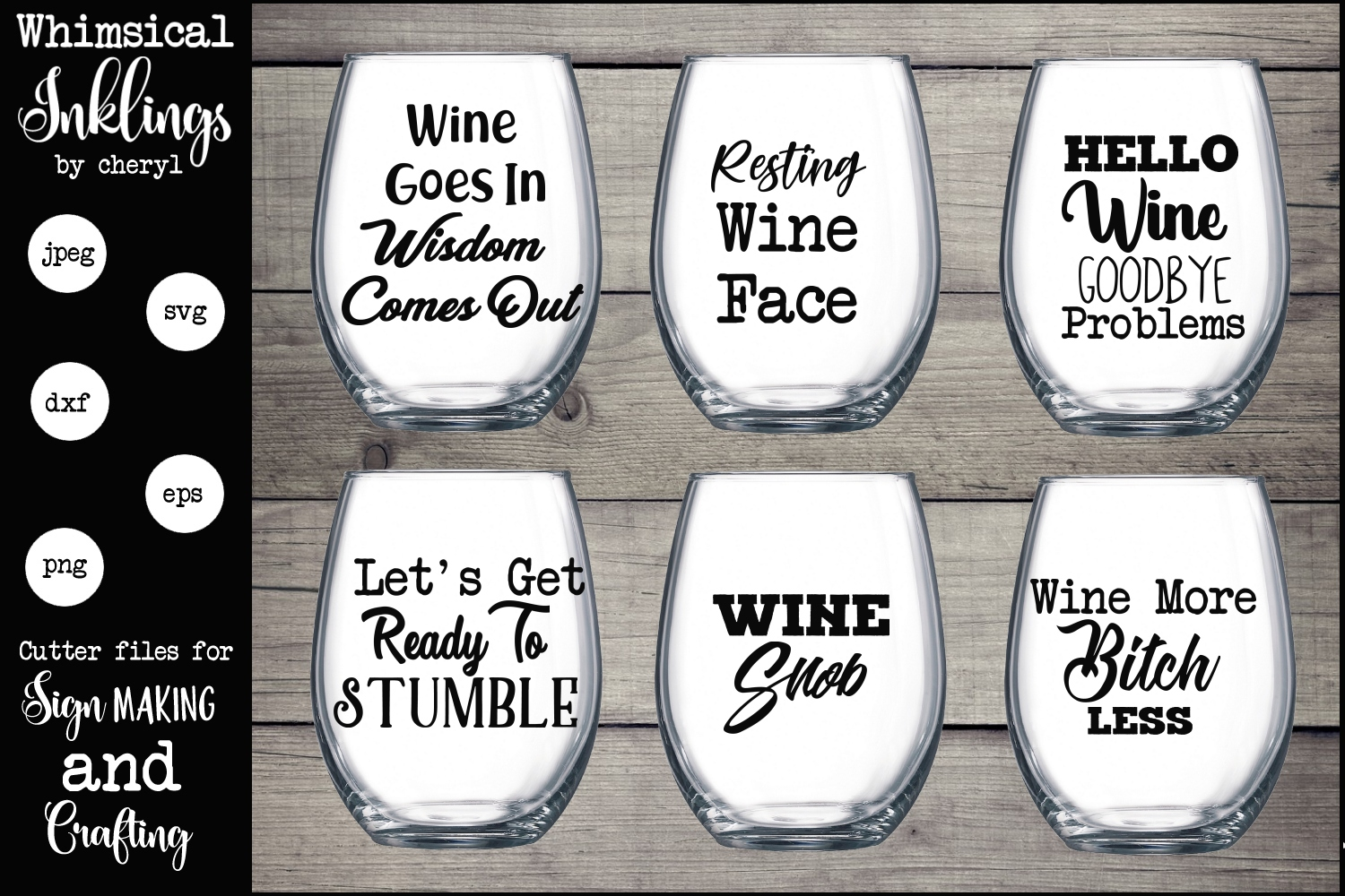 Wine Goes In SVG Set example image 1