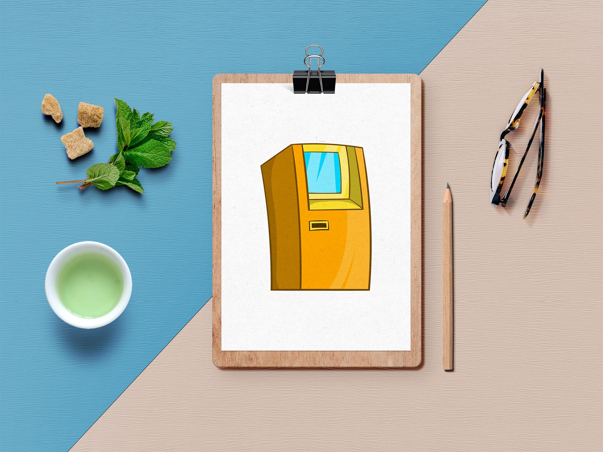 Finance icons set, cartoon style example image 4