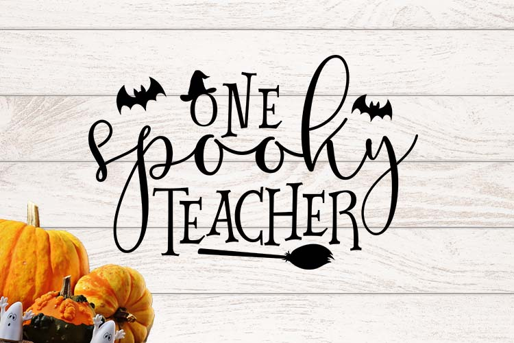 One spooky teacher SVG example image 1