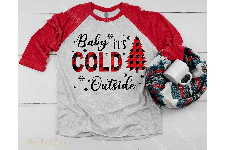 Baby It's cold Outside Svg, Buffalo plaid svg, Joy Plaid svg example image 2