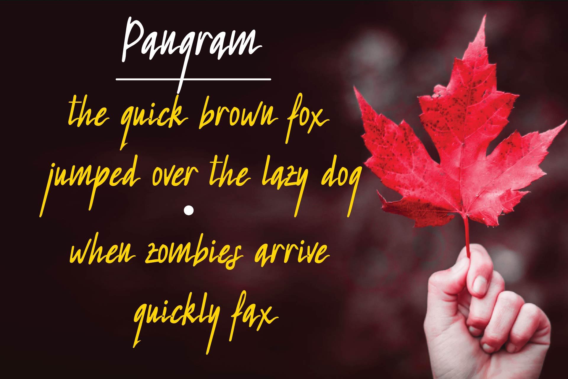 Redleaf Typeface example image 2